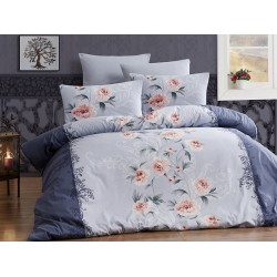 Лимитирана колекция спално бельо от 100% памук - KAREN LACIVERT от StyleZone
