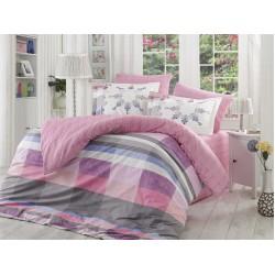 Луксозно спално бельо от 100% памук поплин - ALANZA LILA от StyleZone