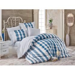 Луксозно спално бельо от 100% памук поплин - DEBORA MAVI от StyleZone