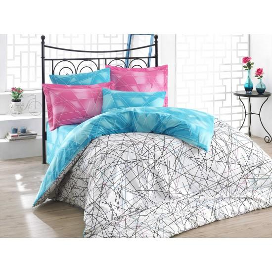 Луксозно спално бельо от 100% памук поплин - ELISA PEMBE от StyleZone