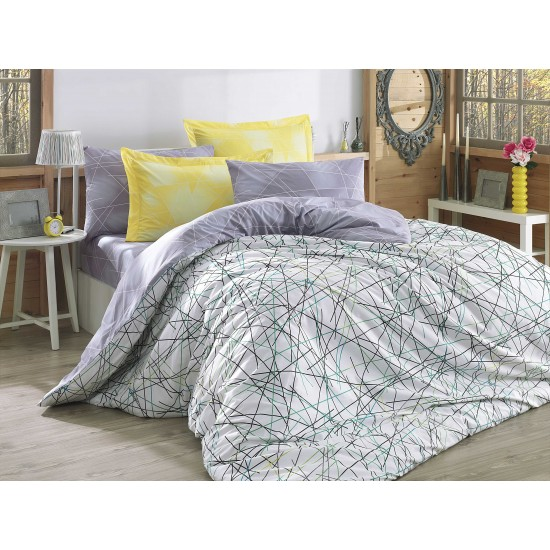 Луксозно спално бельо от 100% памук поплин - ELISA SARI от StyleZone