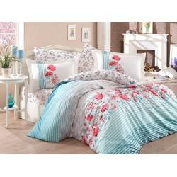 Луксозно спално бельо от 100% памук поплин - FIESTA AQUA от StyleZone