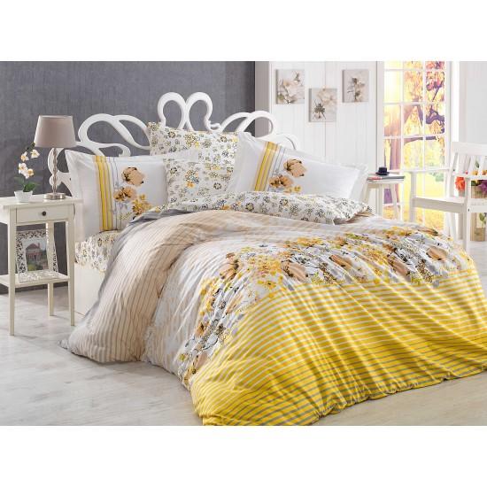Луксозно спално бельо от 100% памук поплин - FIESTA SARI от StyleZone