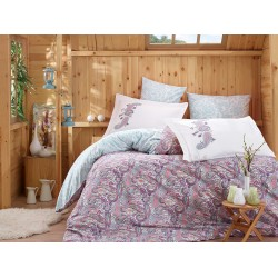 Луксозно спално бельо от 100% памук поплин - GUILIA LILA от StyleZone