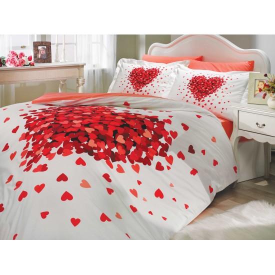 Луксозно спално бельо от 100% памук поплин - JUANA KIRMIZI от StyleZone