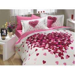 Луксозно спално бельо от 100% памук поплин - JUANA PEMBE от StyleZone