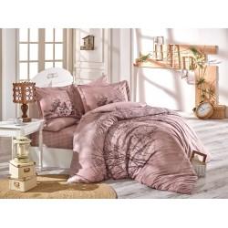 Луксозно спално бельо от 100% памук поплин - MARGHERITA KAHVE от StyleZone