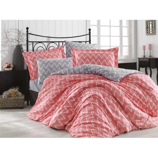 Луксозно спално бельо от 100% памук поплин - NAZENDE KORAL от StyleZone