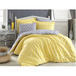 Луксозно спално бельо от 100% памук поплин - NAZENDE SARI от StyleZone