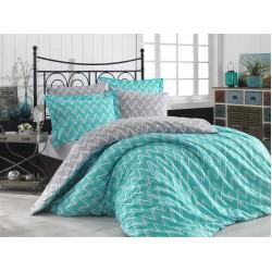 Луксозно спално бельо от 100% памук поплин - NAZENDE TURKUAZ от StyleZone