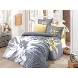 Луксозно спално бельо от 100% памук поплин - ROMANA GRI от StyleZone