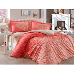 Луксозно спално бельо от 100% памук поплин - SERENITY KIRMIZI от StyleZone