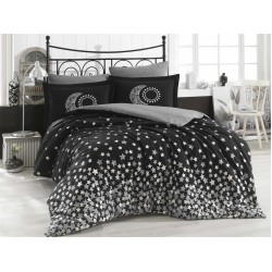 Луксозно спално бельо от 100% памук поплин - STAR'S SIYAH от StyleZone