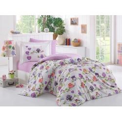 Луксозно спално бельо от 100% памук поплин - CANDY LILAC от StyleZone