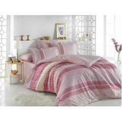 Луксозно спално бельо от 100% памук поплин - EMMA PEMBE от StyleZone