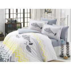 Луксозно спално бельо от 100% памук поплин - OCEAN SARI от StyleZone