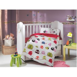 Бебешко спално бельо от 100% памук поплин - CRAZY BIRDS от StyleZone