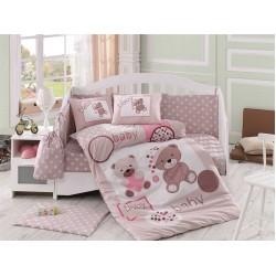 Бебешко спално бельо от 100% памук поплин - PONPON BEJ от StyleZone