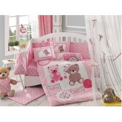 Бебешко спално бельо от 100% памук поплин - PONPON PEMBE от StyleZone