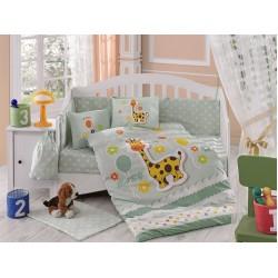 Бебешко спално бельо от 100% памук поплин - PUFFY MINT от StyleZone