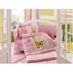 Бебешко спално бельо от 100% памук поплин - PUFFY PEMBE от StyleZone