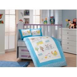 Бебешко спално бельо от 100% памук поплин - ZOO MAVI от StyleZone