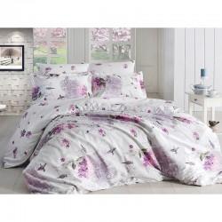 Спално бельо от сатениран памук с два плика - CLARINDA BAHAR от StyleZone
