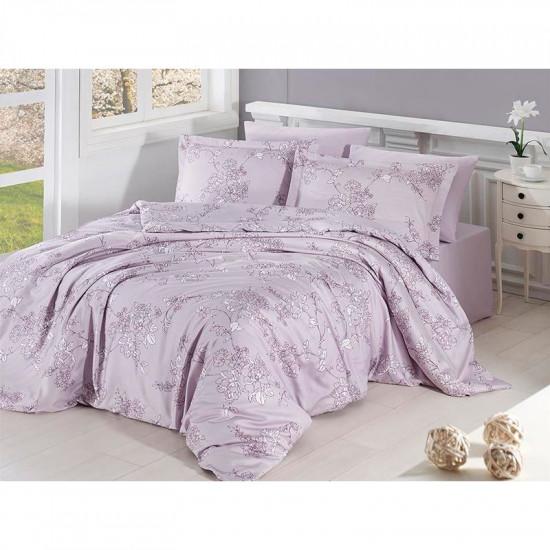 Спално бельо от сатениран памук с два плика - DOLARIS VIOLET от StyleZone
