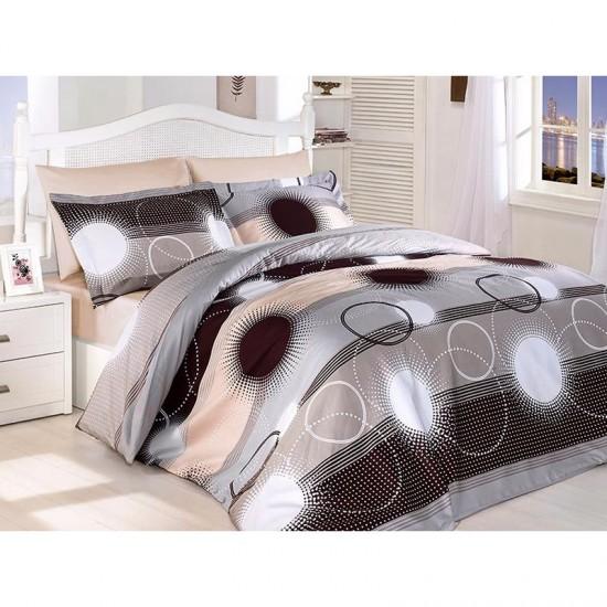 Спално бельо от сатениран памук с два плика - ELENA KAHVE от StyleZone