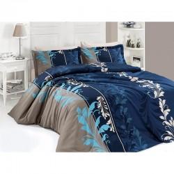 Спално бельо от сатениран памук с два плика - EYLUL PETROL от StyleZone