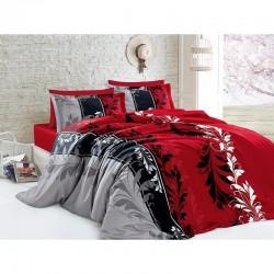 Спално бельо от сатениран памук с два плика - EYLUL KIRMIZI от StyleZone