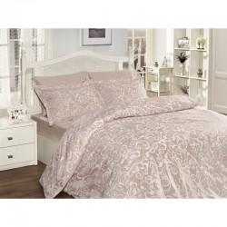 Спално бельо от сатениран памук с два плика -  SWETA PUDRA от StyleZone