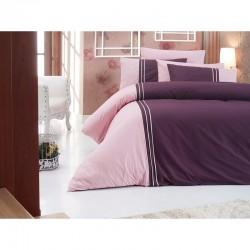 Спално бельо от сатениран памук с два плика -  CRAZE VIZON от StyleZone