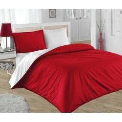 Двуцветно спално бельо 100% памук ранфорс (червено/бяло) от StyleZone
