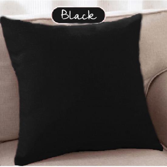 Испанска декоративна калъфка за възглавница с цип - ЧЕРНО от StyleZone