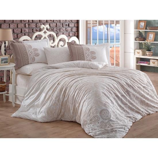 Луксозно спално бельо от 100% памук поплин - IRENE BEIGE от StyleZone