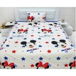 Юношеско спално бельо от 100% памук - Мики Звезди от StyleZone