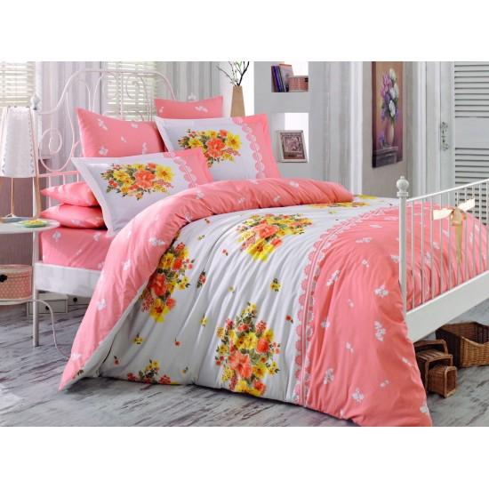 Луксозно спално бельо от 100% памук поплин - ALVIS SALMON от StyleZone