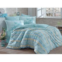 Луксозно спално бельо от 100% памук поплин - ELEONOA GREEN от StyleZone
