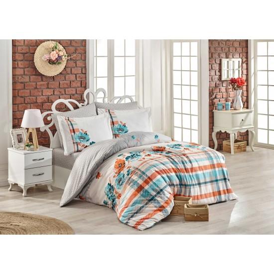 Луксозно спално бельо от 100% памук поплин - NORMA TURQUOISE от StyleZone