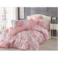 Луксозно спално бельо от 100% памук поплин - VANESSA PINK от StyleZone