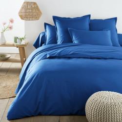 Едноцветно спално бельо от памучен сатен - ТЪМНОСИН от StyleZone