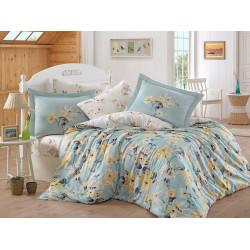 Луксозно спално бельо от 100%  сатениран памук- Lavida Su Yesili от StyleZone