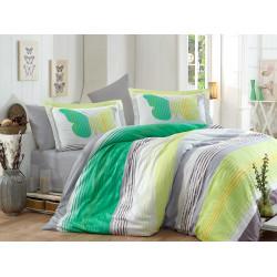Луксозно спално бельо от 100%  сатениран памук- Nicoletta Yesil от StyleZone