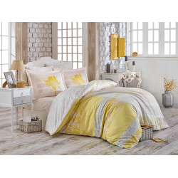 Луксозно спално бельо от 100%  сатениран памук- Elsa Sarı от StyleZone