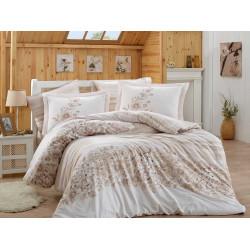 Луксозно спално бельо от 100%  сатениран памук- Serena Bej от StyleZone