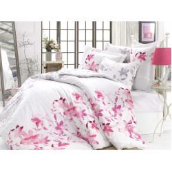 Луксозно спално бельо от 100%  сатениран памук- Lucia Fusya от StyleZone