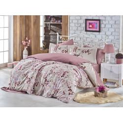 Луксозно спално бельо от 100%  сатениран памук- Irma Kahve Bej от StyleZone