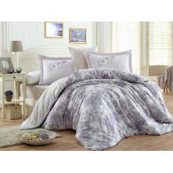 Луксозно спално бельо от 100%  сатениран памук- Romina Lila от StyleZone