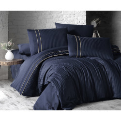 Спално бельо делукс сатен - STRIPE STYLE LACIVERT от StyleZone